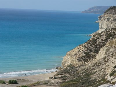 Episkopi Bay is on the West coast of the Akrotiri Sovereign Base Area