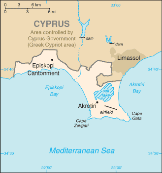 Map of the Western Sovereign Base Area