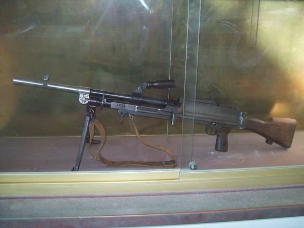 Automatic weapon in the EOKA National Struggle Museum, Chlorakas, Paphos, Cyprus