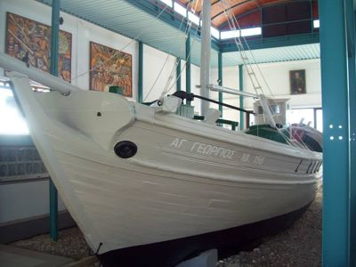 Saint George boat in the EOKA National Struggle Museum, Chlorakas, Paphos, Cyprus